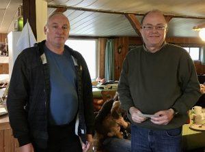 Maik Jessen und Peter Jürgensen Verdienstnadel Silber